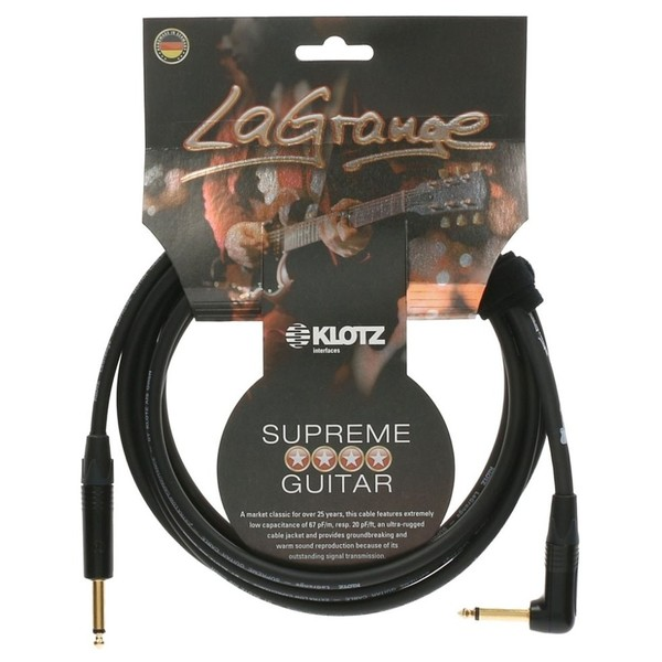 Klotz LaGrange Angled Guitar Cable, 4.5m
