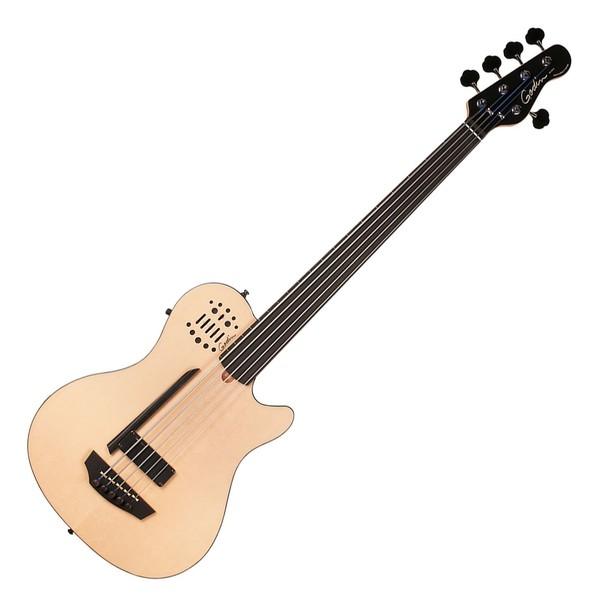 Godin A5 Ultra Fretless 5-String Semi-Acoustic Bass Guitar, With Bag
