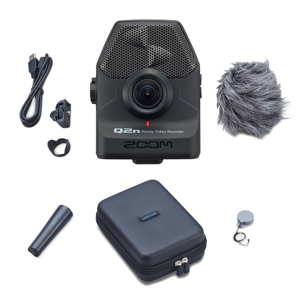 Zoom Q2n Handy Video Recorder with Accessory Pack - Bundle