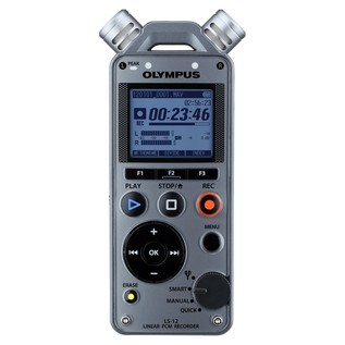 Olympus LS-12 Linear PCM Portable Recorder - Front