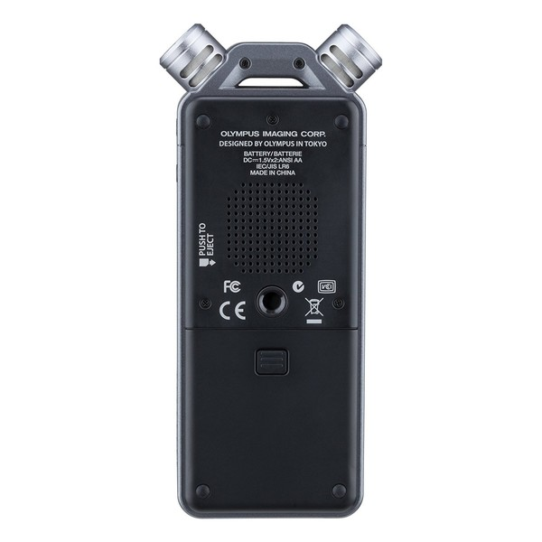 Olympus LS-12 Linear PCM Portable Recorder - Rear
