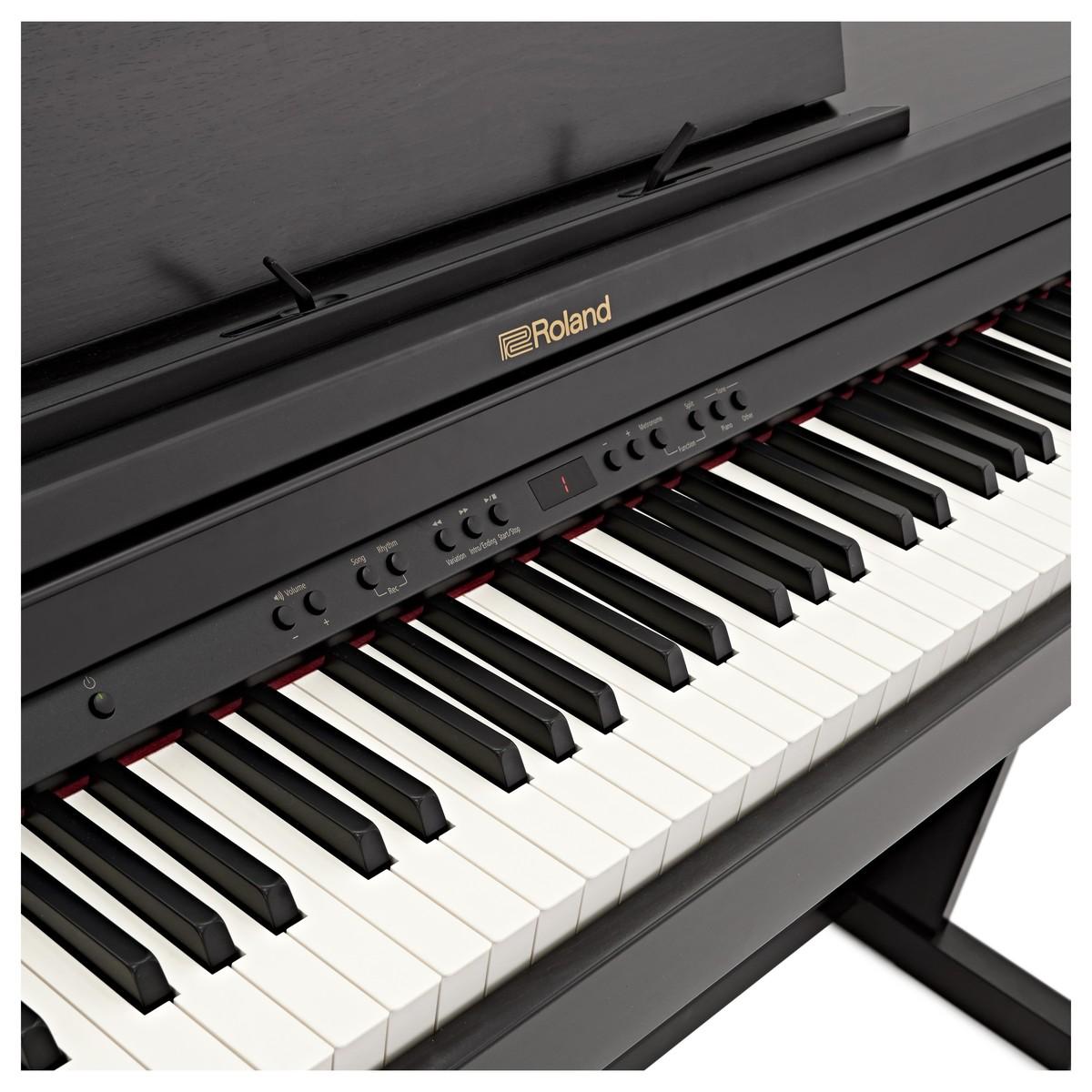 roland rp501r digital piano contemporary black at gear4music. Black Bedroom Furniture Sets. Home Design Ideas