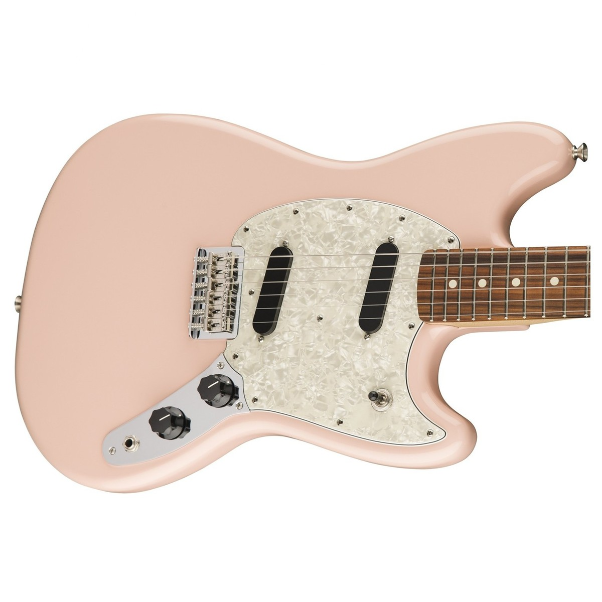 disc fender mustang electric guitar pau ferro shell pink at gear4music. Black Bedroom Furniture Sets. Home Design Ideas