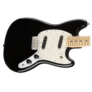 Fender Mustang Electric Guitar, Maple, Black