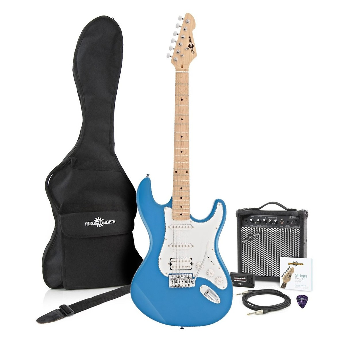 Click to view product details and reviews for La Ii Electric Guitar Hss Amp Pack Blue.