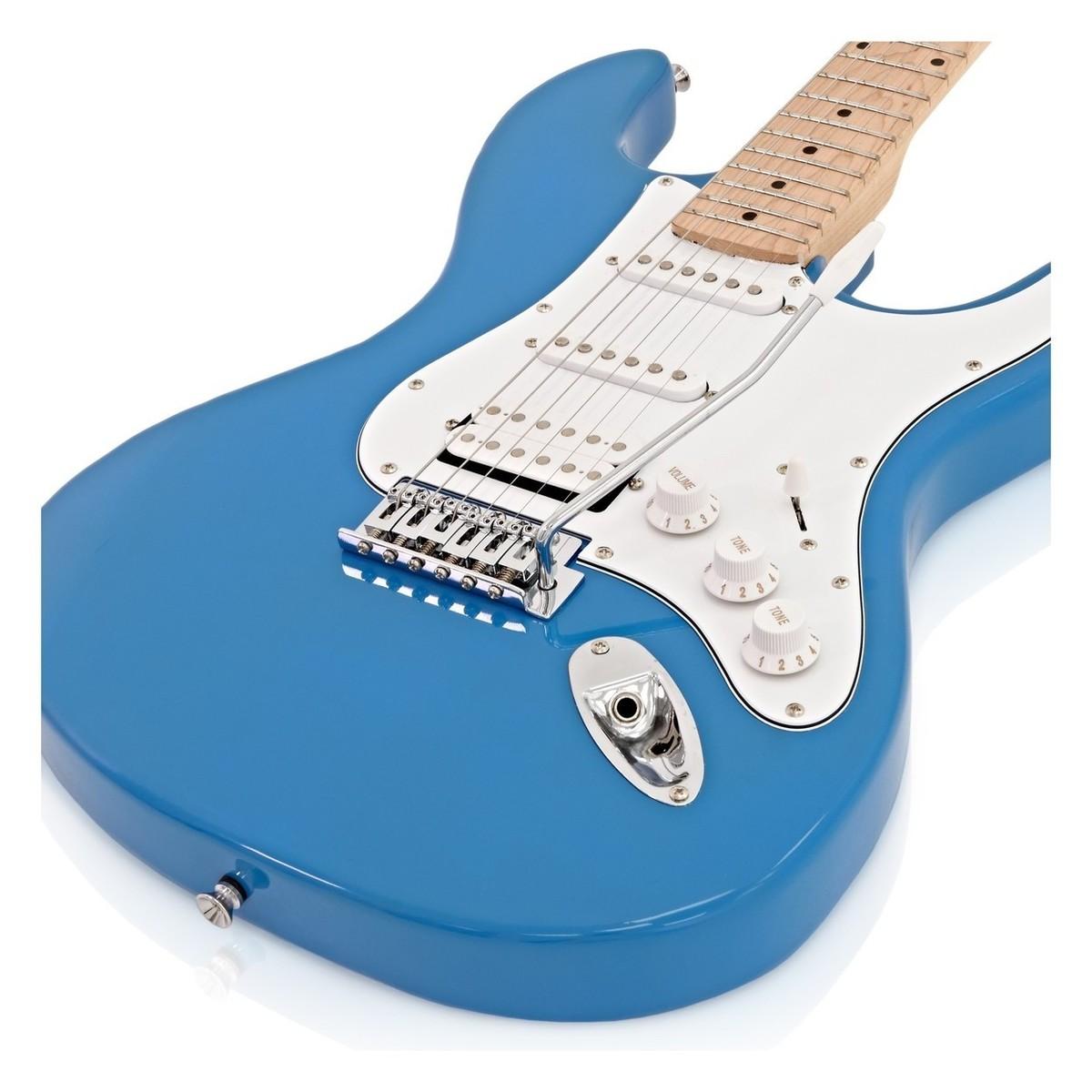 LA II E-Gitarre HSS + Amp Pack, blau bei Gear4music