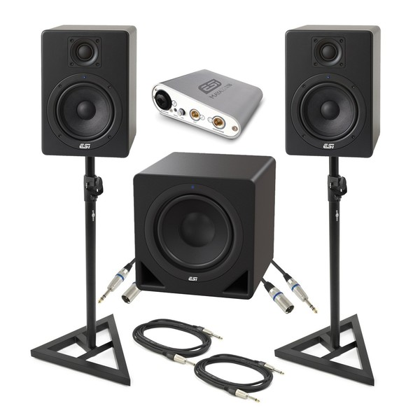ESI aktiv 05 Monitors, 10s Subwoofer, MAYA22 Interface Studio Package - Bundle