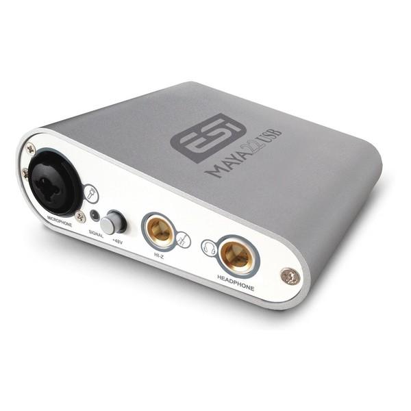 ESI MAYA22 USB Audio Interface - Angled