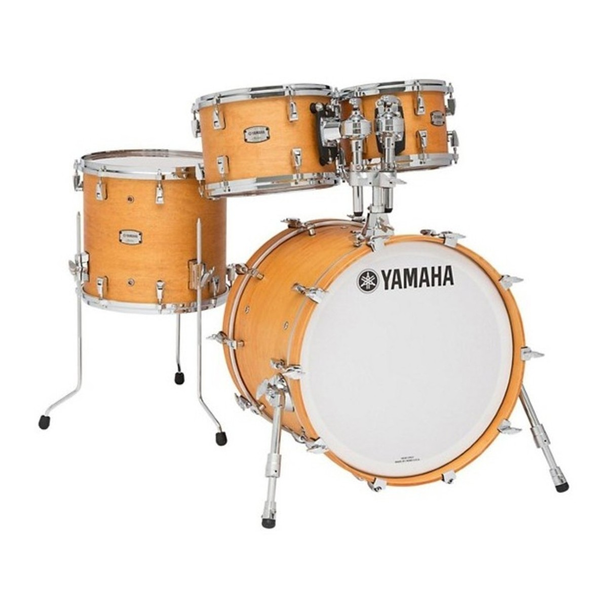 """Image of Yamaha Absolute Maple Hybrid 22"""" 4pc Shell Pack Vintage Natural"""