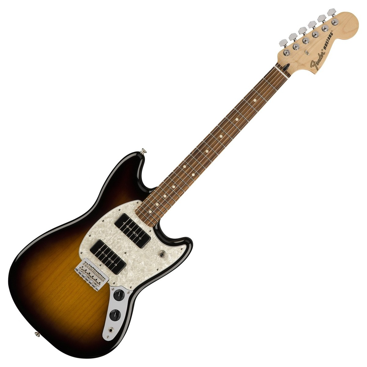 fender mustang 90 electric guitar pau ferro 2 tone sunburst at. Black Bedroom Furniture Sets. Home Design Ideas