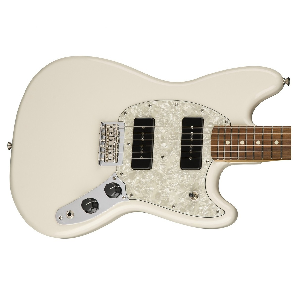 fender mustang 90 electric guitar pau ferro olympic white at gear4music. Black Bedroom Furniture Sets. Home Design Ideas