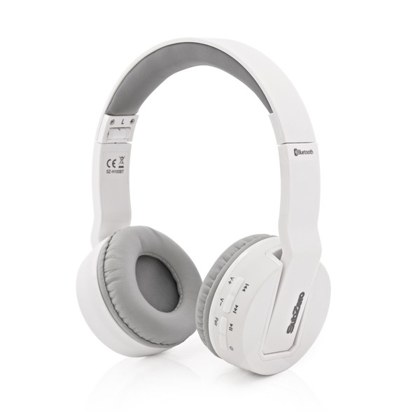 SubZero SZ-H100 Bluetooth Wireless Headphones, White