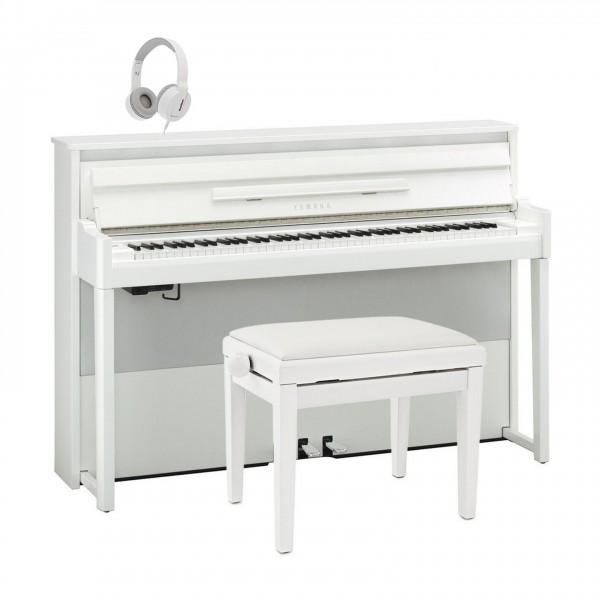 Yamaha NU1X AvantGrand Hybrid Digital Piano Package, Polished White