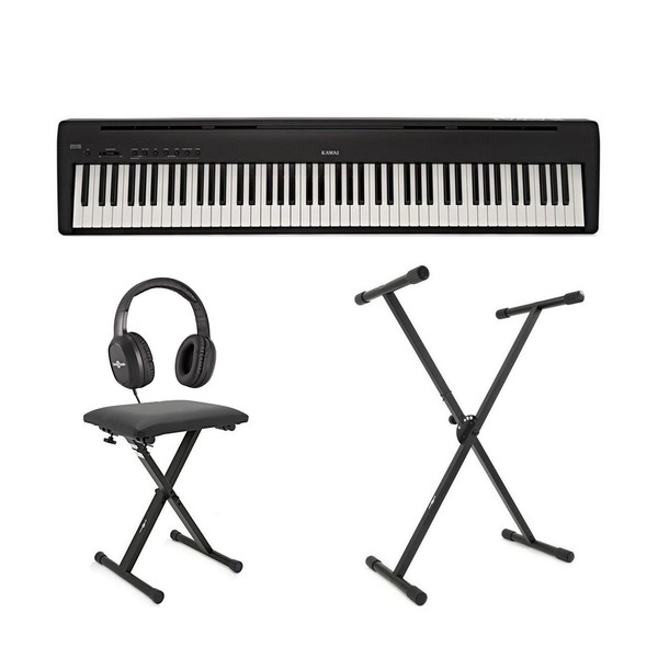 Kawai ES110 Digital Stage Piano X Frame Package, Black