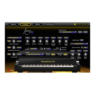 Synthogy Ivory II Studio Grands Interface