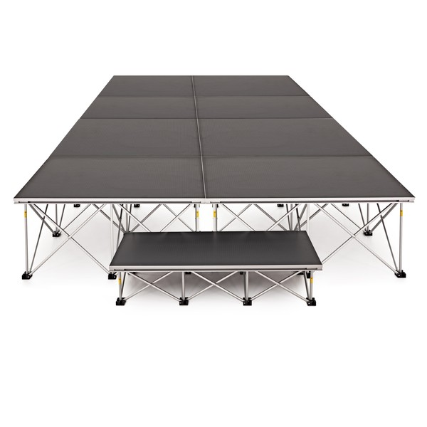 2m x 4m Flat Portable Stage Kit by Gear4music, 40cm