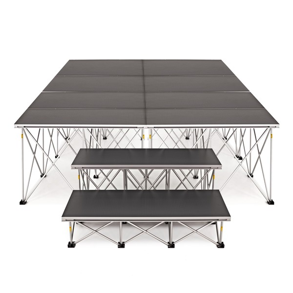 2m x 4m Flat Portable Stage Kit by Gear4music, 60cm