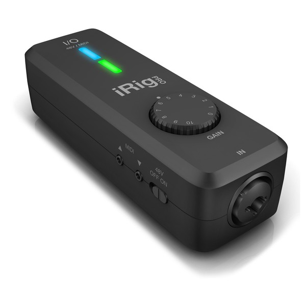 iRig Pro I/O Interface for IOS, Android, PC and Mac - Angled