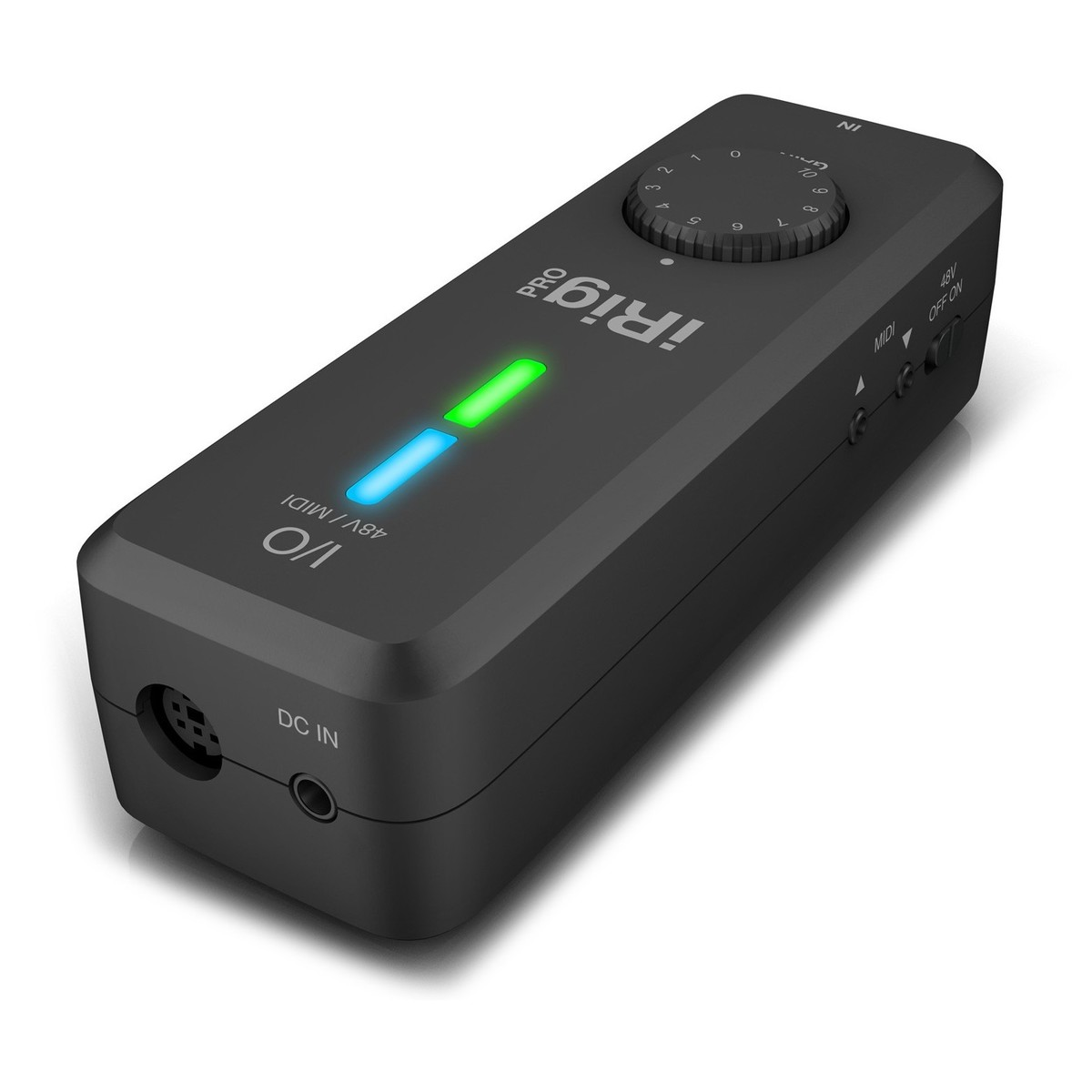 Irig Pro I O Interface For Ios Android Pc And Mac At Gear4music Cable Neutrik Xlr 1 4quot Combo Jacks Phantom Power Sound Design Audio Angled 2 Loading Zoom