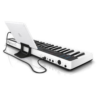 iRig Keys I/O 49 MIDI Controller Keyboard - Angled Rear (iPad Not Included)