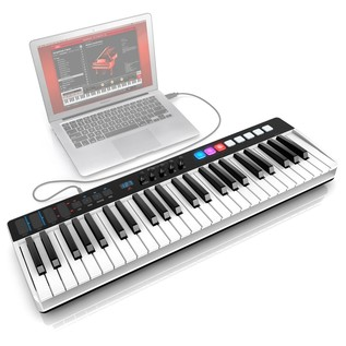 iRig Keys I/O 49 Keyboard With Audio Interface - Angled (Laptop Not Included)