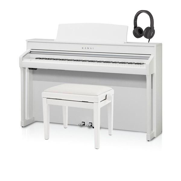 Kawai CA98 Digital Piano Package, Satin White