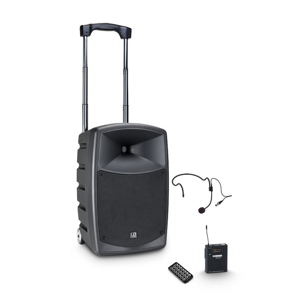 LD Systems Roadbuddy 10 HS Portable PA Speaker with Headset Microphone and Beltpack