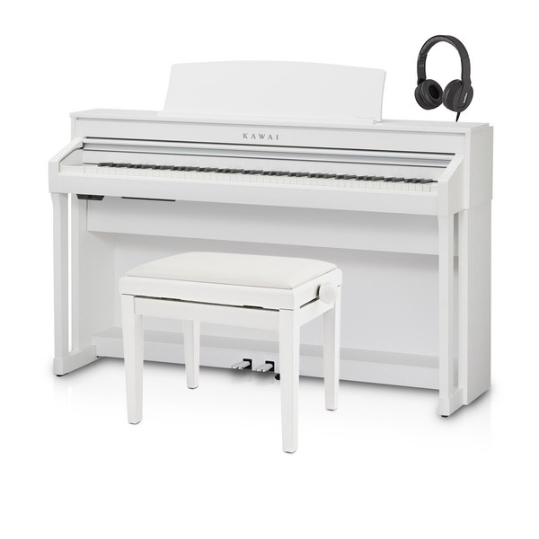 Kawai CA78 Digital Piano Package, Satin White