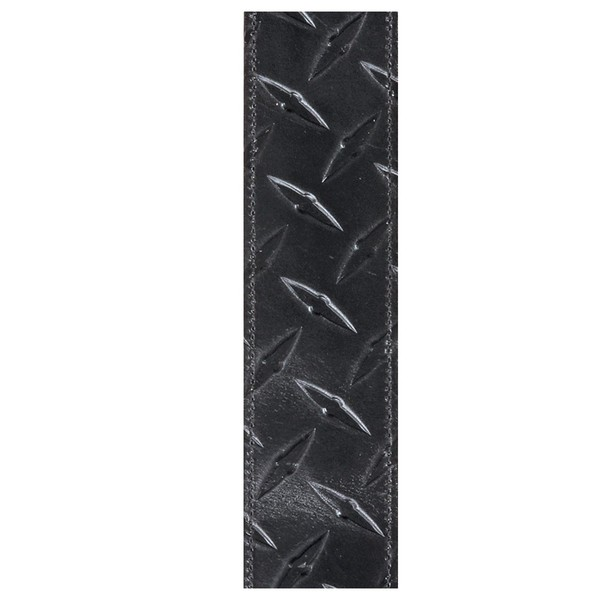 "Planet Waves 2"" Diamond Plate Leather Embosses Guitar Strap, Black"