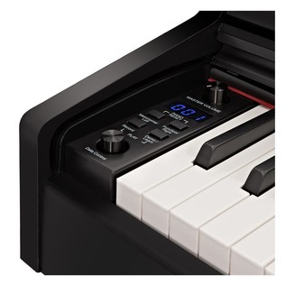 DP-10X Digital Piano by Gear4music + Accessory Pack, Gloss Black
