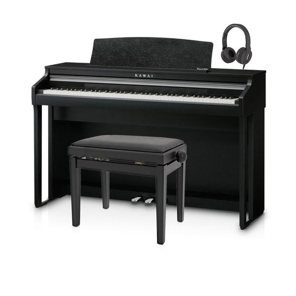 Kawai CA48 Digital Piano Package, Satin Black