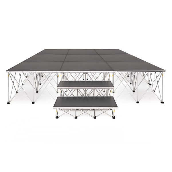 3m x 3m Flat Portable Stage Kit by Gear4music, 60cm