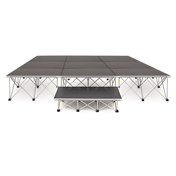 3m x 3m Flat Portable Stage Kit by Gear4music, 40cm