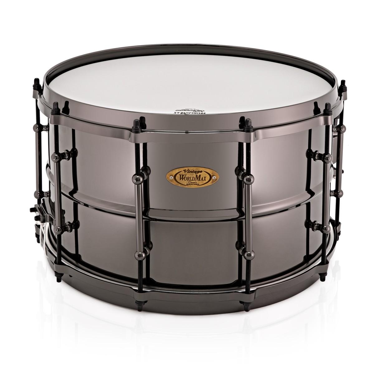 WorldMax Black Dawg 14\'\' x 8\'\' Black Nickel Over Brass Snare Drum ...