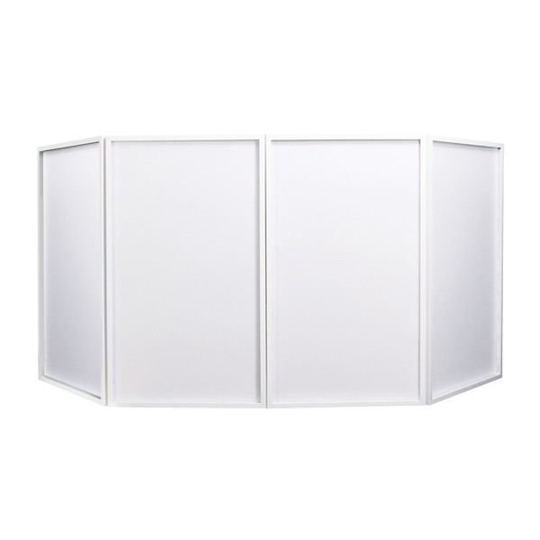Equinox Foldable DJ Screen White, Includes Bag