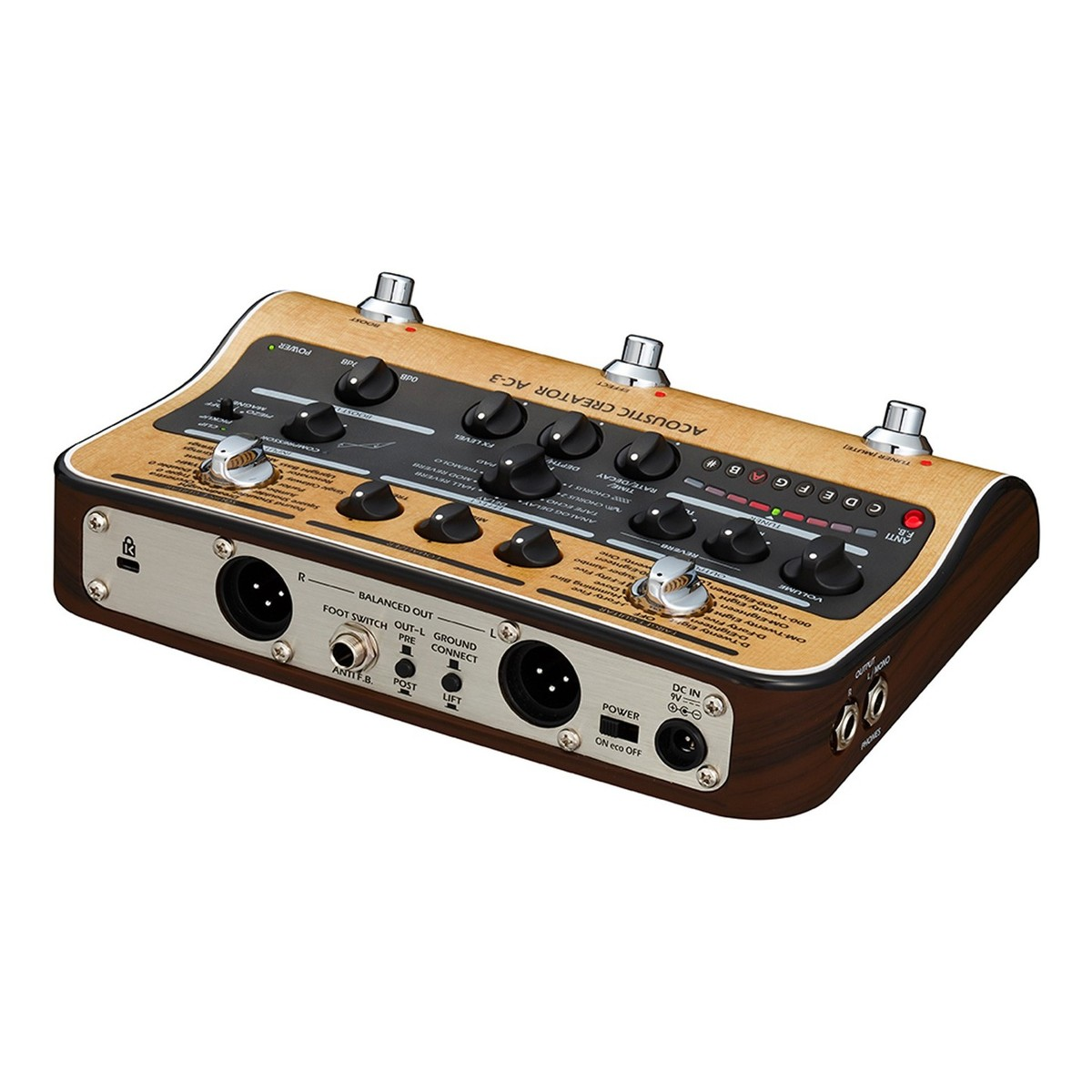 zoom ac 3 acoustic creator pedal at gear4music. Black Bedroom Furniture Sets. Home Design Ideas