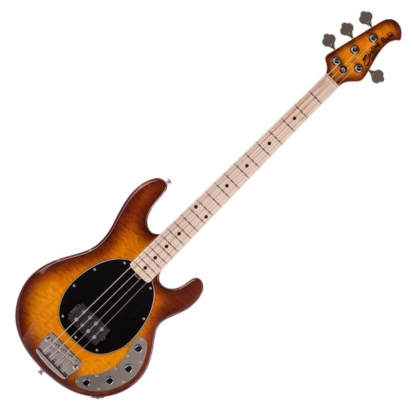 Sterling by Music Man Ray34-QM Bass, Quilted Maple Honey Burst