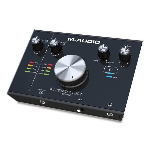 M-Audio M-Track 2x2 Audio Interface - Angled