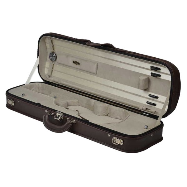 Negri Milano Leather Violin Case in Black and Beige