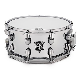 SJC Drums Alpha 14'' x 6.5'' Snare Drum, Chrome over Rolled Steel