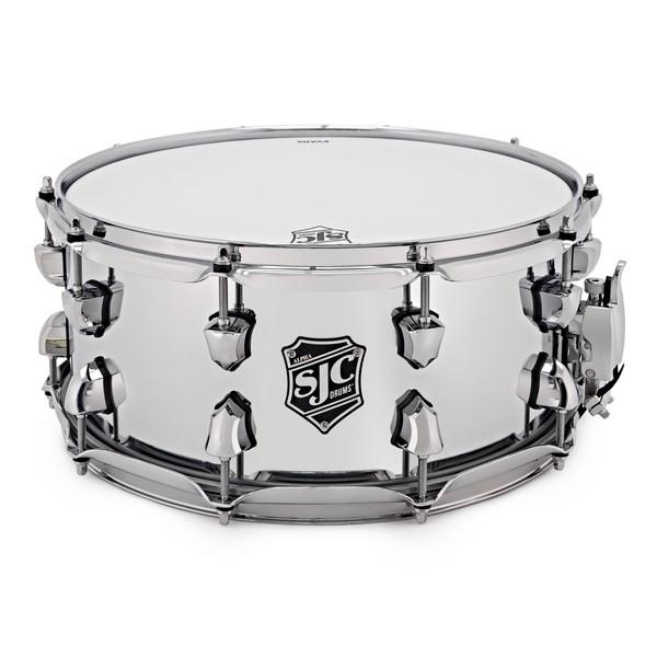 SJC Drums Alpha 14'' x 6.5'' Snare Drum, Chrome over Rolled Steel