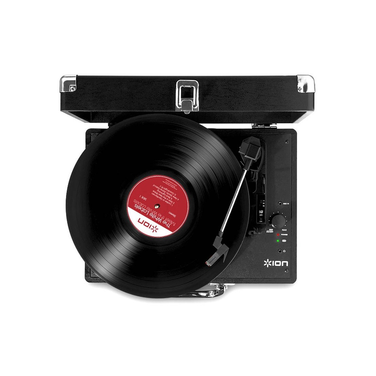 ION Vinyl Motion Portable Suitcase Turntable At Gear4music