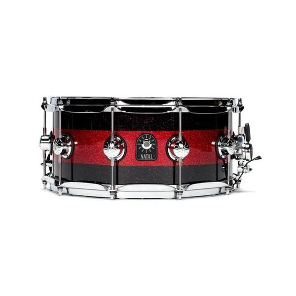 Natal Café Racer 14'' x 6.5'' Snare Drum,Black & Red Sparkle