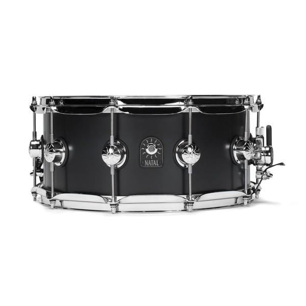 Natal Café Racer 14'' x 6.5'' Snare Drum,Matte Black