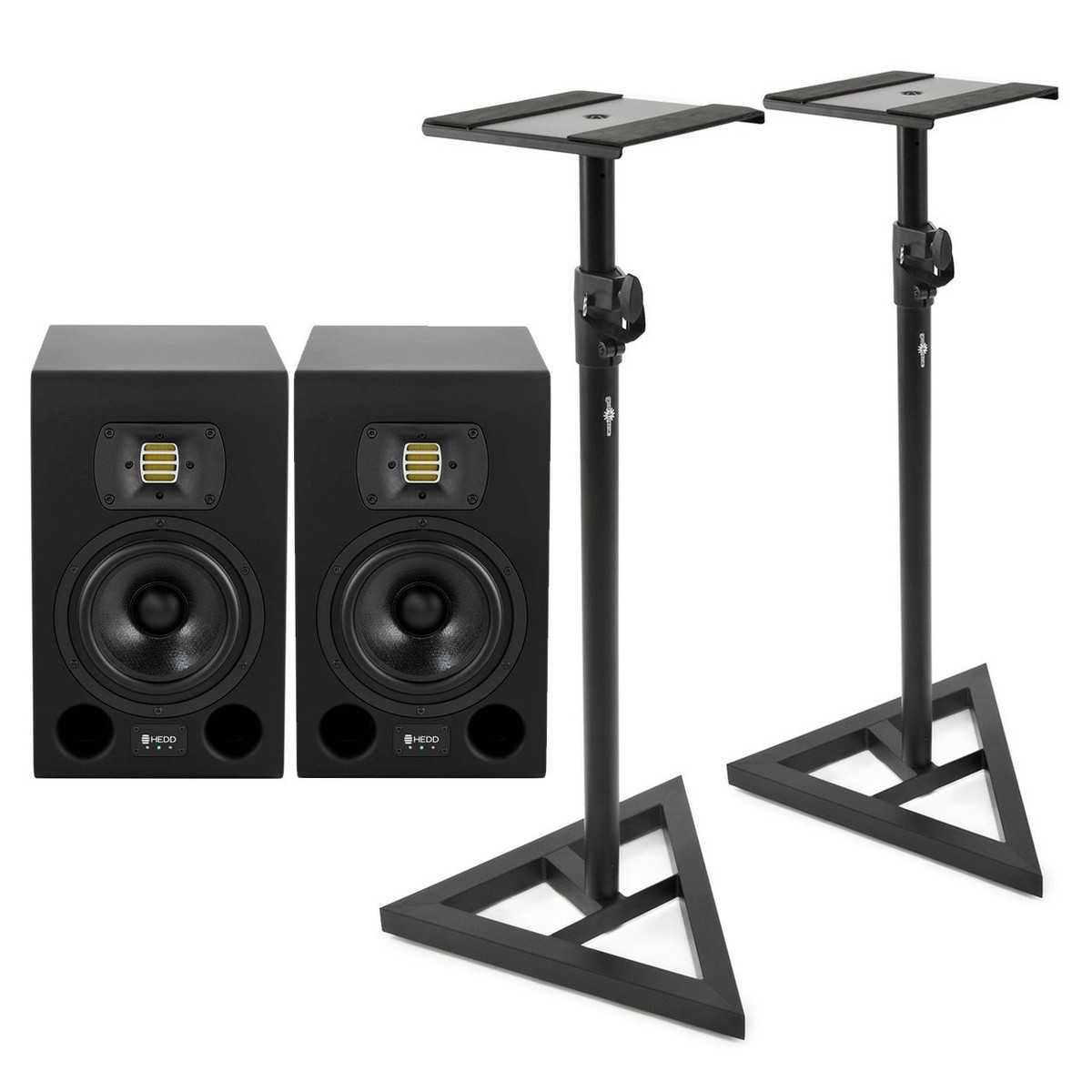 hedd audio type 07 studio monitors pair with stands at gear4music. Black Bedroom Furniture Sets. Home Design Ideas