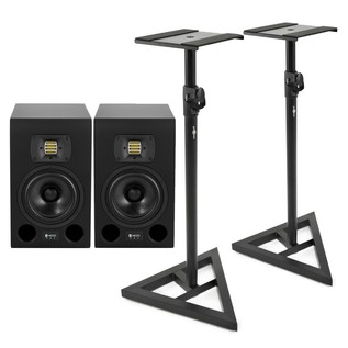 HEDD Audio Type 05 Studio Monitors, Pair With Stands - Bundle