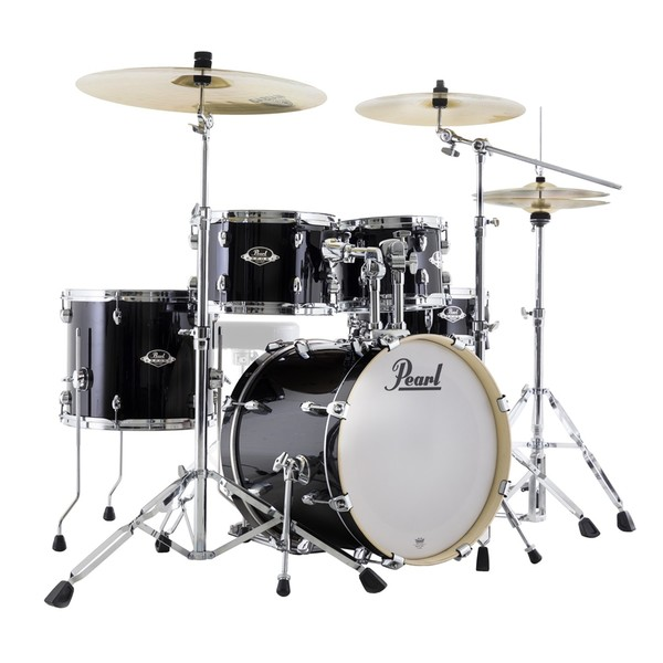 "Pearl Export EXX 18"" Compact Kit w/ Sabian SBR Pack, Jet Black"