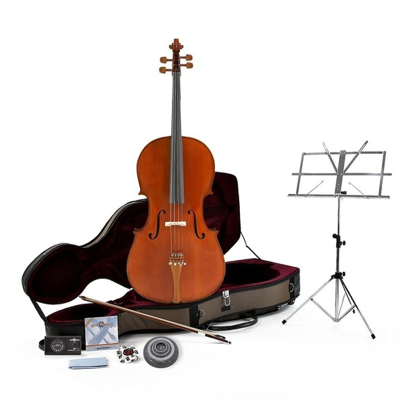 Archer 44C-500 4/4 Size Cello by Gear4music + Accessory Pack