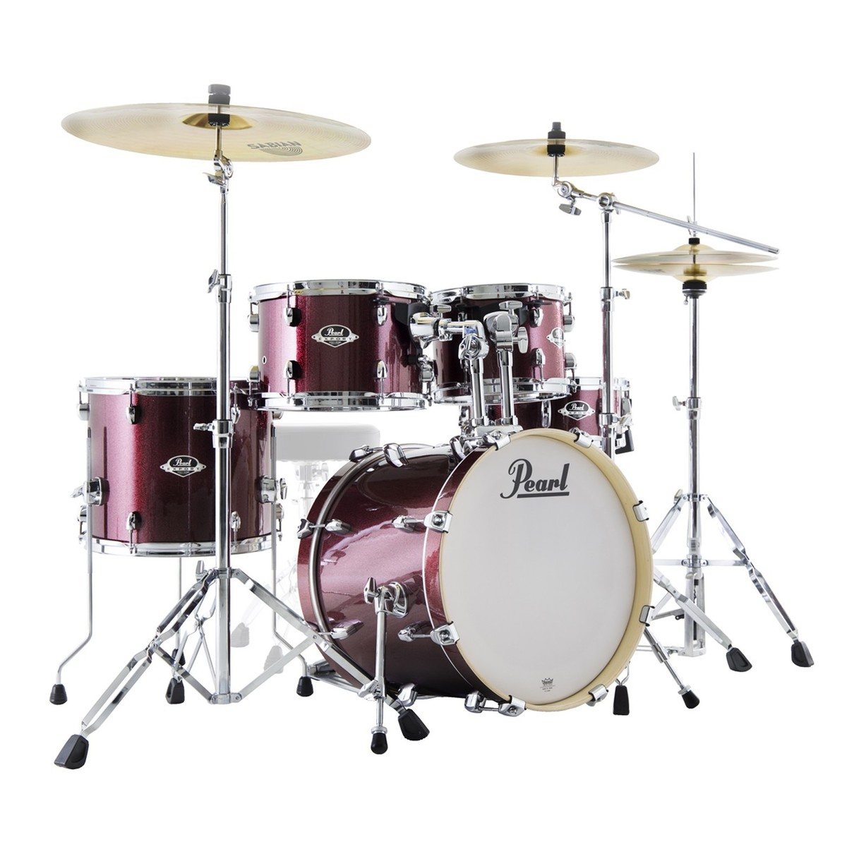 pearl export exx 18 compact kit w sabian sbr black cherry glitter at gear4music