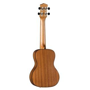 Luna Tapa Electro Acoustic Concert Ukulele, Solid Cedar Top Back View